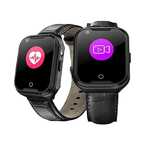 FVIWSJ Niños/Mayores Smartwatch Phone, Reloj Inteligente MP3 con Localizador GPS Chat Voz SOS Cámara Despertador Linterna Relojes para Niños Compatible con iOS Android
