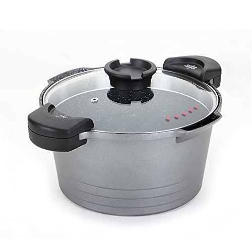 ROSSETTO Pentola Scolapasta a Induzione Antiaderente per Pasta con Coperchio, Alluminio, 24cm, 4,5Litri