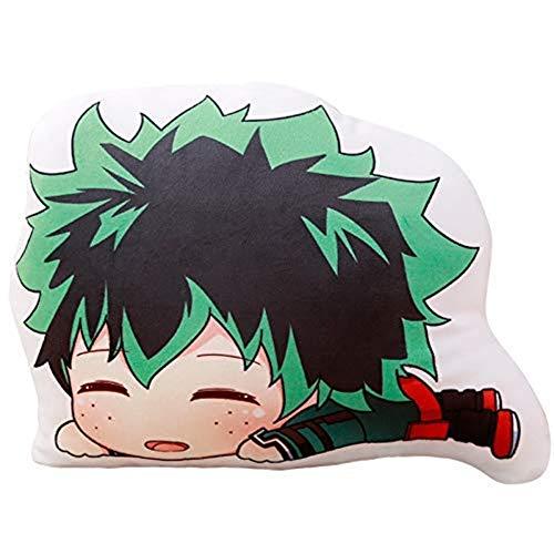 Anime My Hero Academia Almohada 3D Impresión Midoriya Izuku Boku No Hero Academia Bakugou Katsuki Todoroki Shoto Cojín de peluche con imagen de dibujos animados (P02, grande)