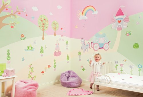 Big Sale Best Cheap Deals FunToSee Princess Girls Nursery and Bedroom Make-Over Decal Kit, Princess