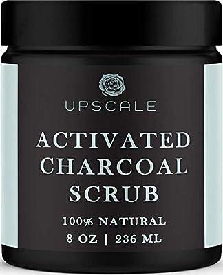 Activated Charcoal Face and Body Scrub- Blackhead Pore Minimizer Exfoliating Cellulite Scrub Body Scrub Exfoliator Facial Blackhead Scrub Anti Cellulite Charcoal Body Scrub Acne Charcoal Face Scrub