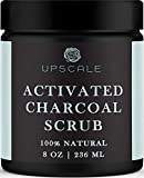Activated Charcoal Face and Body Scrub- Blackhead Pore Minimizer Exfoliating Cellulite Scrub Body Scrub Exfoliator Facial Blackhead Scrub Anti Cellulite Charcoal Body Scrub Acne Charcoal Face Scrub