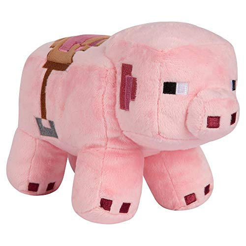 Minecraft 8741 Adventure - Peluche de Cerdo sillín, Color Rosa, 25,4