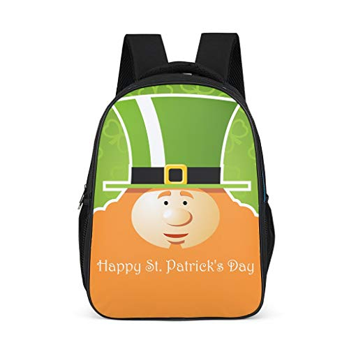 O3XEQ-8 Üei St Patrick's Day Friday Rucksack School Backpack Satch Boys Sports Backpack Women's School Bag Youth Grey Grey One Size
