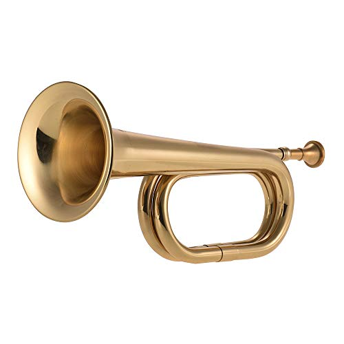 Muslady B Flat Bugle Call Trumpet Brass Cavalry Horn with Mouthpiece for...