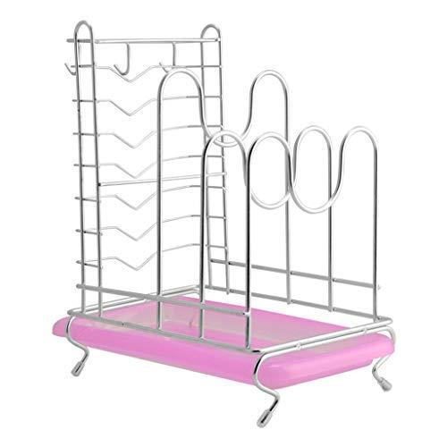 Qiutianchen Edelstahl Deckel Rack Multifunktionale Küchengestelle Ablaufmesser Rack Schneidebrett Schneidebrett Rack Küchenutensilien Lagerung Küchenregal