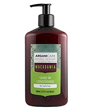 Arganicare Hydrating Macadamia Leave in Conditioner for Curly Hair Enriched with Organic Argan Oil and Macadamia Oil  13.5 Fluid Ounce