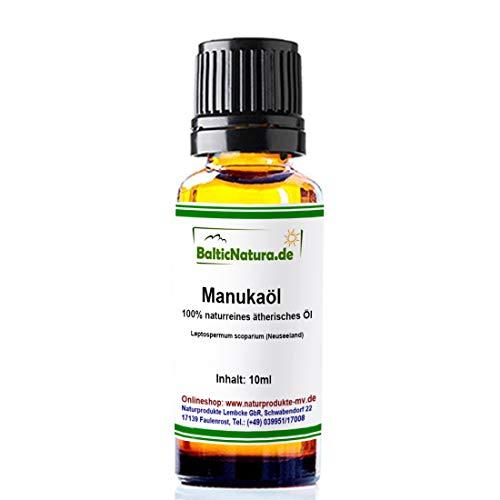 Manukaöl (10 ml) 100{3ed506b9915185c3f87523aa5ba1a0eb6b7a8dbb186628aab29ab1707397ebaf} naturreines ätherisches Manuka Öl