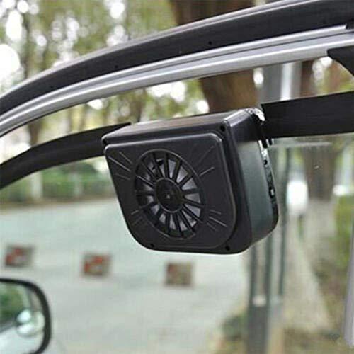 Kylewo 3V Solarbetriebener Autofenster-Ventilator, Solar Auto Cool Fan, Solar Betriebener Auto Fan,Kühlung für Haustiere, Kfz, Fahrzeuge, Vans
