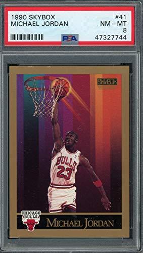 Michael Jordan 1990 Skybox Basketball Card #41 Graded PSA 8