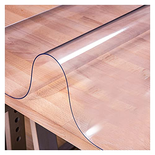 ZWYSL Mantel Transparente a Prueba de Polvo Resistente a Rayones Protector Mesa Sin Lavado Usado para Cocina, Mesa de Centro, Escritorio, 2 Espesores, 21 Especificaciones