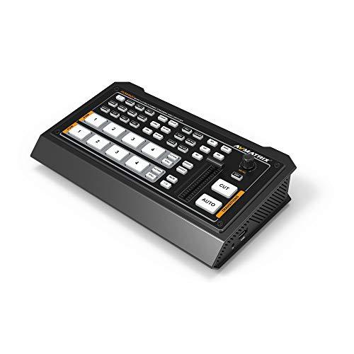 AVMATRIX HVS0402U - Conmutador de vídeo (4 canales, HDMI, salida PGM, salida HDMI, multiview, USB, salida de tipo C)