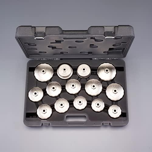 エスコ(ESCO) 14個組 カップ型オイルフィルターレンチセット EA604AV-14