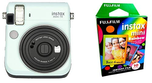 Fujifilm Instax Mini 70 - Instant Film Camera (ICY Mint) and Instax Mini