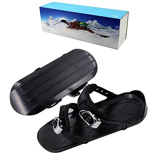 LGQ Mini Botas de esquí Snowboard Zapatos de esquí Combinados con Patines de Ruedas Raquetas de Nieve Ajustables Suministros de esquí al Aire Libre Equipo de esquí de Trineo de Snowboard