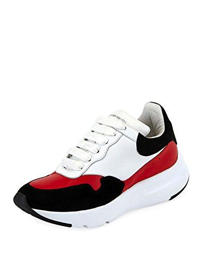 Alexander McQueen McQueen Leather Runner Sneakers (35.5) Black/Red