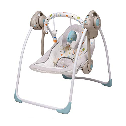 Best Prices! Automatic Baby Swing, Baby Rocker with Six-Speed Swing Speed Adjustment, Intelligent Co...