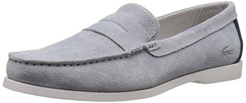 Lacoste Men's Navire Penny 216 1 Slip-On Loafer, Light Grey, 11 M US