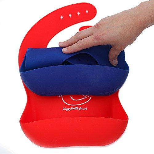 Bavoir étanche en silicone facile à nettoyer ! Bavoirs doux et confortables pour protéger des...