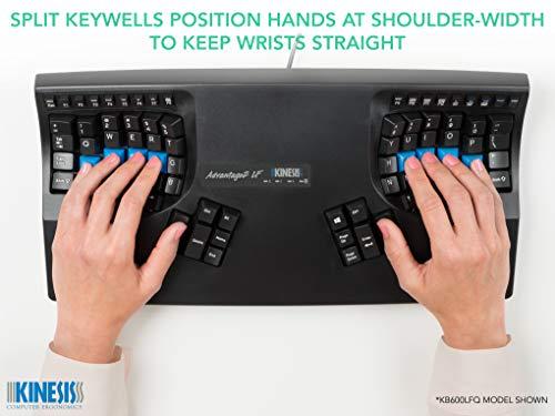 Kinesis Advantage2 QD Ergonomic Keyboard for Dvorak Typists (KB600QD)