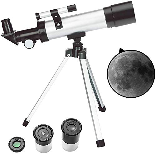 TOYSBBS 90x Astronomical Telescope, Refractor Tabletop Travel Scope for Kids Sky Star Gazing & Birds Watching Best Gift