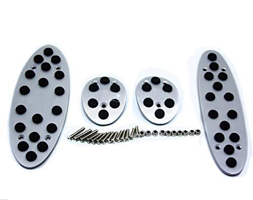Pedales de freno de combustible de reposo en el pie de aluminio de 4pcs MT Fit para BMW para Mini 2007-2016 para Mini para Cooper con logo