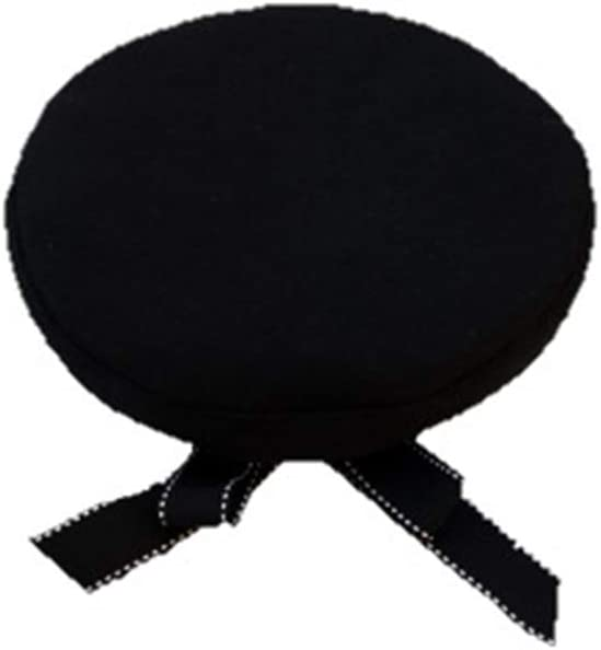 Hat Female Hat Fashion Streamers Bow Beret Wild Student Cap Embroidery Outdoor Octagonal Cap Accessories (Color : Black)