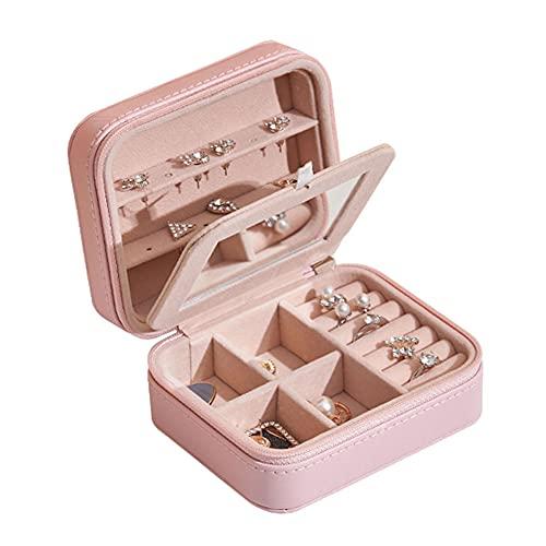 ZYCW Pequeña Joyero Viaje Decorativas Cajas para Joyas Jewelry Organizer para Mujer (Pink)
