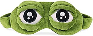 Geetobby Cute 3D Frog Eye Mask Teenage Mutant Ninja Turtle Blindfold, Super Smooth Sleep Mask Eye Cover Lightweight Rest Anime Funny Birthday Gift Block All Light Out toTravel Nap Shift Work
