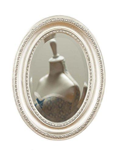 Espejo Antiguo Estilo faceta de Corte de Color Plateado del Espejo de Madera