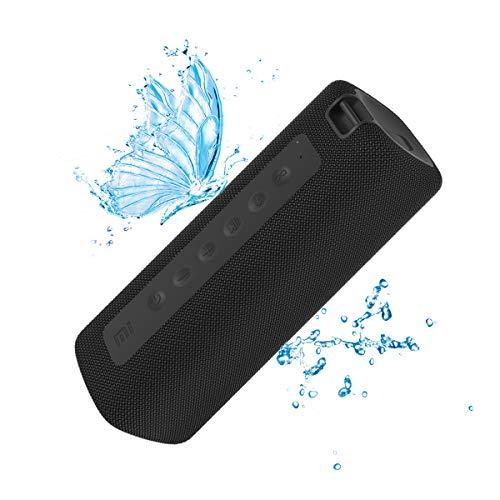 Xiaomi Mi Tragbarer Bluetooth-Lautsprecher, Drahtloser Lautsprecher, Bluetooth, 16 W, IPX7 im Freien Wasserdicht, TWS, 13 Stunden Wiedergabe, Eingebautes Mikrofon, Staubdicht (schwarz)
