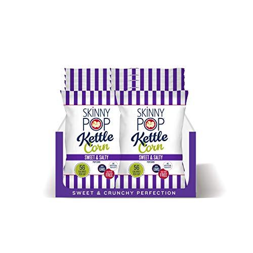 SkinnyPop Sweet & Salty Kettle Popcorn, 12ct, 5.3oz Grocery Size Bags, Skinny Pop, Healthy Popcorn Snacks, Gluten Free