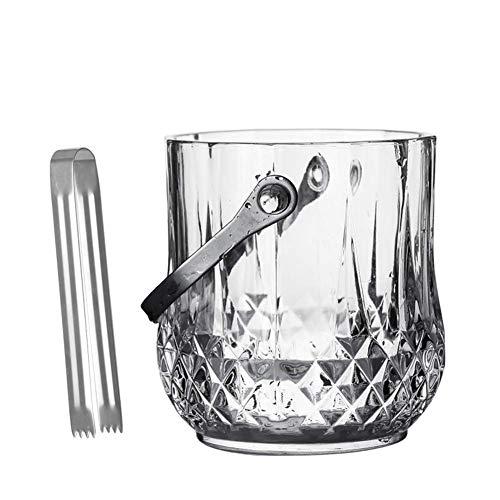ZXL Portaghiaccio,Secchiello per Ghiaccio in Cristallo, refrigeratore per Secchiello per Vino Isolato per Birra da Champagne, Elegante refrigeratore per Vino in Secchiello per Ghiaccio in Vetro