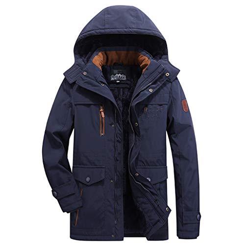 Clacce Strickjacke Mantel Cardigan Strickmantel Sweaters Jacken Coat Outwear Winter Herren Long Section Plus Samt Dicke Kapuzenjacke
