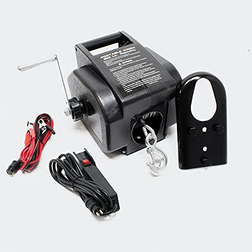 Torno Cable eléctrico 12V Cabrestante hasta 2267kg Winche Tracción Cargas Outdoor...
