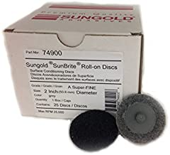 Sungold Abrasives 74900 Super-Fine Non Woven Surface Conditioning R-Type Quick Change Disc, 2-Inch, Grey by Sungold Abrasives