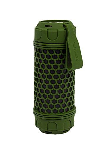 Telefunken BS1007W Bluetooth-Lautsprecher (Spritzwassergeschützt, Aux-In, Freisprecheinrichtung, USB-Ladefunktion, LED-Taschenlampe)