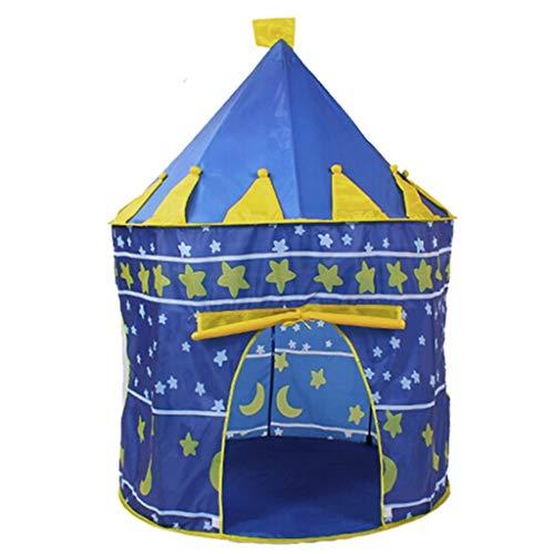 Decoración Tiendas de campaña, Castillo Princesa Príncipe Regalo De Cumpleaños Bolsa De Almacenamiento Interior Juguete Niños (Color : Azul, tamaño : B)