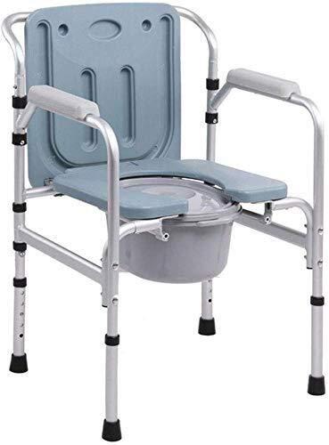 BXU-BG Rollstuhl faltbare schwangere Frauen WC Ältere Mobiltoilette Sitzhocker Adult Haushalt, höhenverstellbar,...