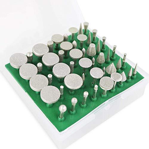 50pcs Diamond Burr Set Diamond Coated Drill Bit Grinding Burrs for Dremel Rotary Tool