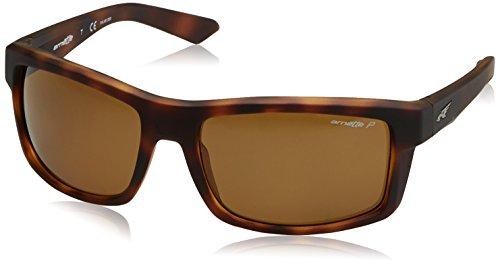 Arnette 4216 - Gafas de sol, Hombre, Marrón (FUZZY DARK HAVANA)