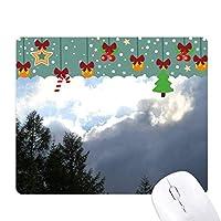 暗い雲 ゲーム用スライドゴムのマウスパッドクリスマス