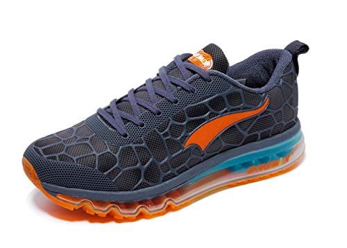 Coussin d'air léger pour course à pied pour homme - Bleu - Bleu lac orange., 44 EU