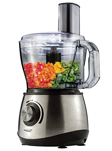 Brentwood Select FP-581 Food Processor, 8-Cup, Stainless Steel/Black