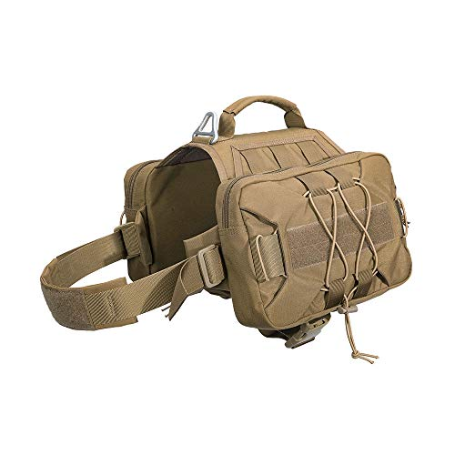 EXCELLENT ELITE SPANKER Dog Pack Hound Dog Saddle Bag Backpack for Travel Camping Hiking Medium & Large Dog with 2 Capacious Side Pockets(COB)