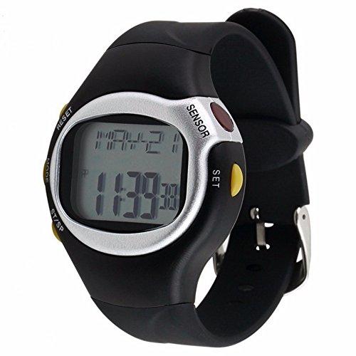 LINGJIA Pulsómetros Gimnasio Deportes Ejercicio Físico Calorías Digitales Reloj De Pulsera Sensor Táctil Frecuencia Cardíaca Monitor De Salud Reloj Cronómetro Medición De Frecuencia Cardíaca