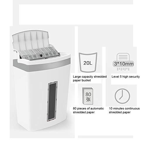 kMOoz papiervernietiger, hoge veiligheid, opvangbak-papiervernietiger voor papier/creditcards, Home Office papiervernietiger, incl. prullenbak