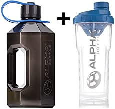 Alpha Bottle XL 1 6L or XXL 2 4L Water Bottle Jug 750ml or 1000ml Protein Shaker Smoke Blue Strap 2 4L Clear Blue Shaker 1L Estimated Price : £ 19,99