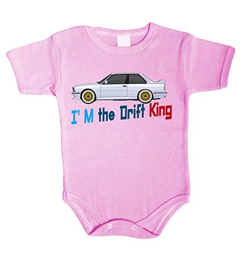 Body pour bébé I am the Drift King King Roi Grenouillère sous-vêtement fille - Rose - 74 cm (6-12 mois)