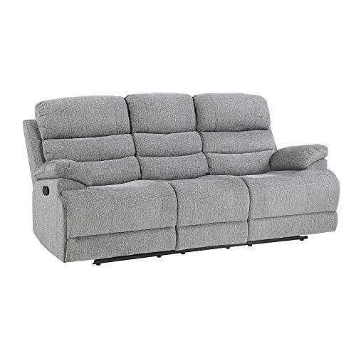 Lexicon Betong Double Reclining Sofa, Smoke Grey